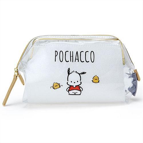 日本代購預購 可超取付款 三麗鷗 POCHACCO 防水透明 寬口化妝包筆袋 757-051
