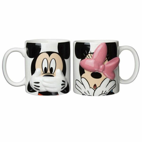 X射線【C232148】米奇Mickey米妮Minnie 陶瓷對杯,水杯/馬克杯/情侶對杯/湯杯/玻璃杯/不鏽鋼杯/漱口杯