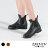 ZALULU愛鞋館 JK024 預購 帥氣百搭素面鬆緊帶馬丁雨靴-黑 / 棕-36-40 0