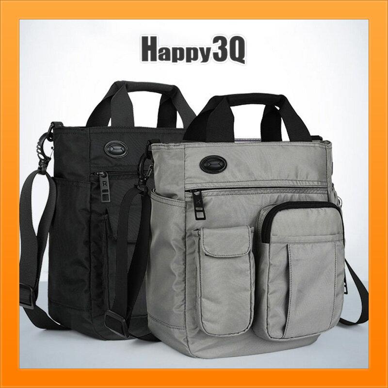手拿包休閒帆布包大容量3C器材包媽媽包多分隔手提包斜背包-灰 / 黑【AAA4335】 - 限時優惠好康折扣