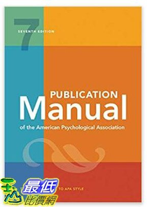 [8美國直購] 暢銷書 Publication Manual of the American Psychological Association Seventh Edition 143383216X - 限時優惠好康折扣