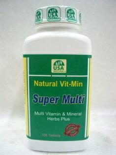 綠色生機健康館:天然成~天然綜合維他命100粒罐