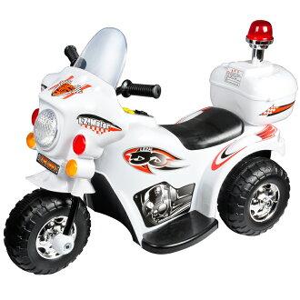 寶貝樂 皇家警察兒童電動摩托車/電動機車-白色(BTRT991WW)