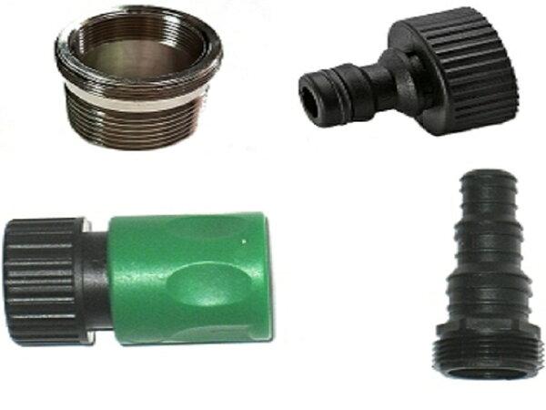 單槍龍頭21mm內細牙與27mm外細牙雙用銅製接頭轉四分六分水管組合2入