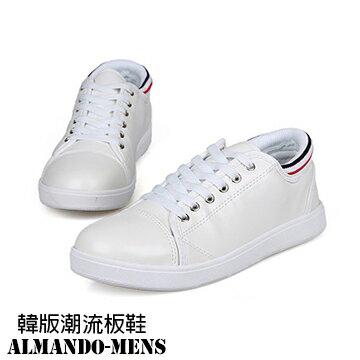 [ALMANDO-MENS] 韓版潮男版鞋 全白色系/休閒運動鞋/男士運動鞋