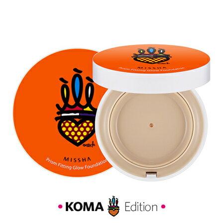 獨家 韓國 MISSHA x KOMA 遮瑕按壓式粉底液 15g (附粉撲) 逆齡瀲灩光感 插畫家聯名款【N201065】
