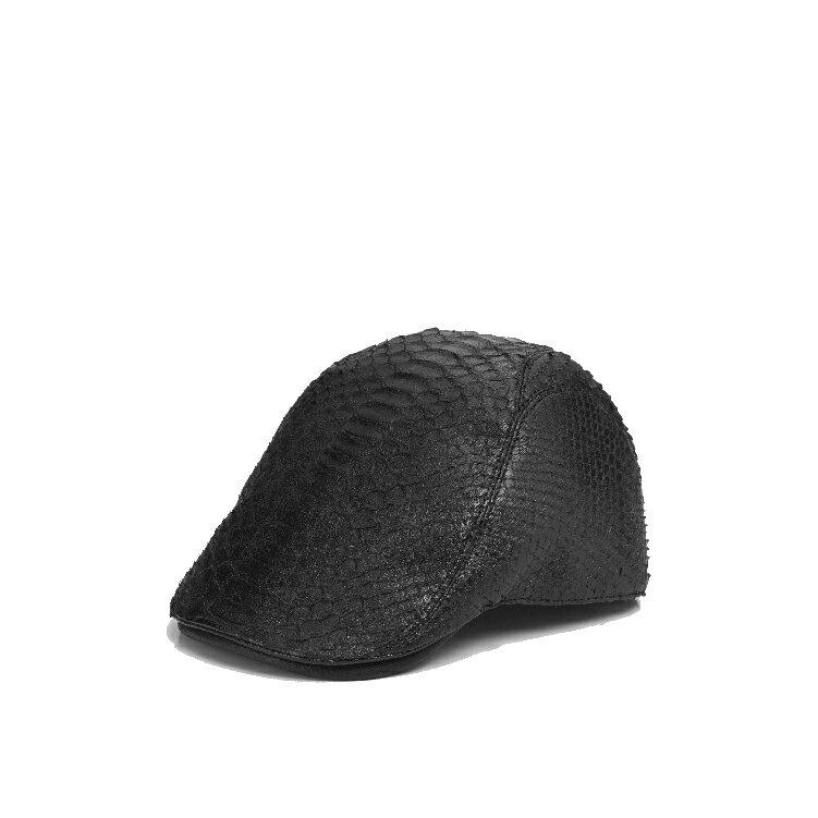 蟒蛇皮 貝雷帽