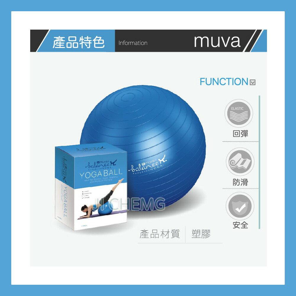 Muva 瑜珈健身防爆抗力球 瑜珈球 彈力球 韻律球 皮拉提斯球 (粉、藍兩色可選)
