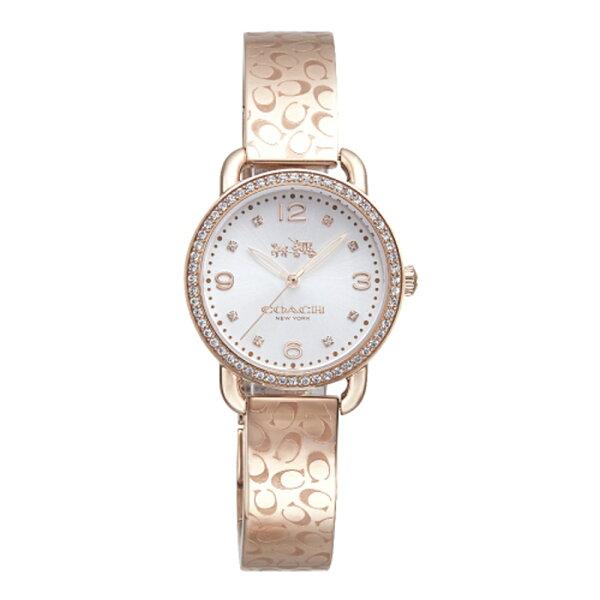 COACH漫步巴黎時尚手鐲腕錶玫瑰金14502355