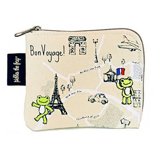 【日本進口正版】青蛙王子 Pickles the frog 帆布 票卡包 卡片包 零錢包 - 099235