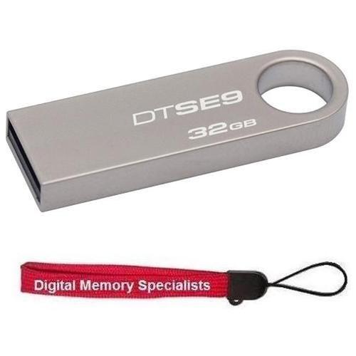Kingston 32GB DataTraveler SE9 32G DTSE9 USB 2.0 Metal Flash Pen Thumb Drive DTSE9H/32GB + USB Lanyard