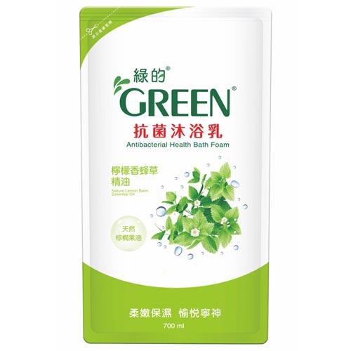 綠的GREEN 抗菌沐浴乳 補充包 檸檬香蜂草精油 700ml