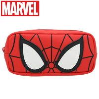 漫威英雄Marvel 周邊商品推薦【日本正版】蜘蛛人 皮革筆袋 鉛筆盒 漫威英雄 MARVEL - 540436
