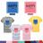 ◆快速出貨◆T恤.情侶裝.班服.MIT台灣製.獨家配對情侶裝.客製化.純棉短T.藍框/粉框HAPPY WORLD【YC414】可單買.艾咪E舖 0