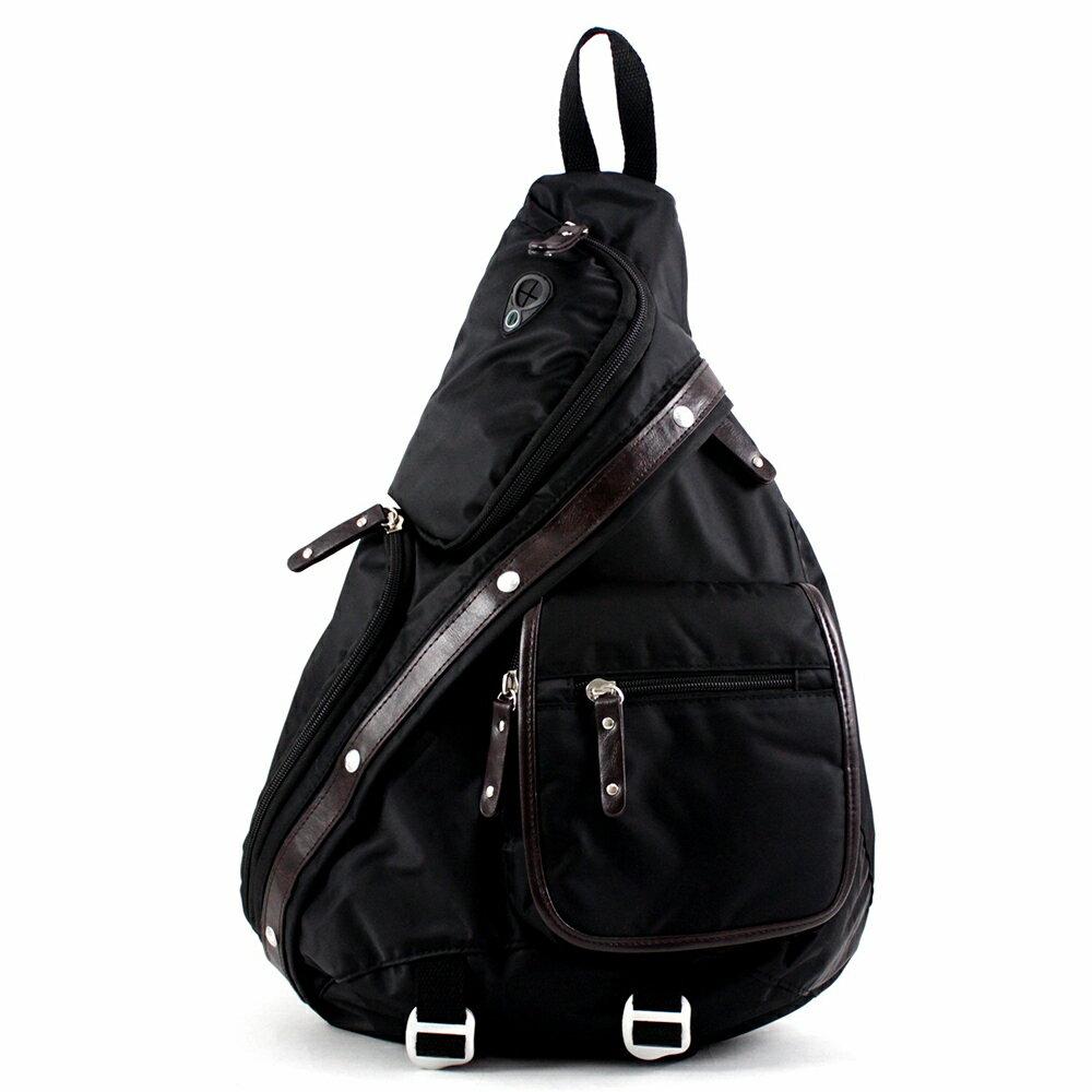 斜背包 質感配皮側背包後背包單肩背包 NEW STAR BK27 1