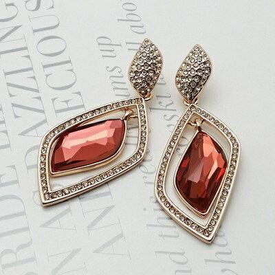 玫瑰金耳環925純銀鑲鑽耳飾~風靡奢華優美氣質情人節 女飾品2色73gs163~ ~~米蘭