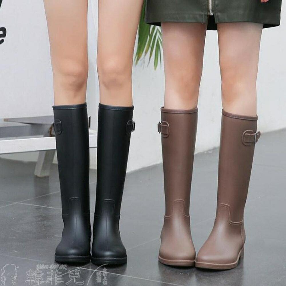 雨鞋 MAIYU 輕量簡約時尚雨鞋女成人雨靴加絨高筒水靴防滑膠鞋女士水鞋 韓菲兒 母親節禮物