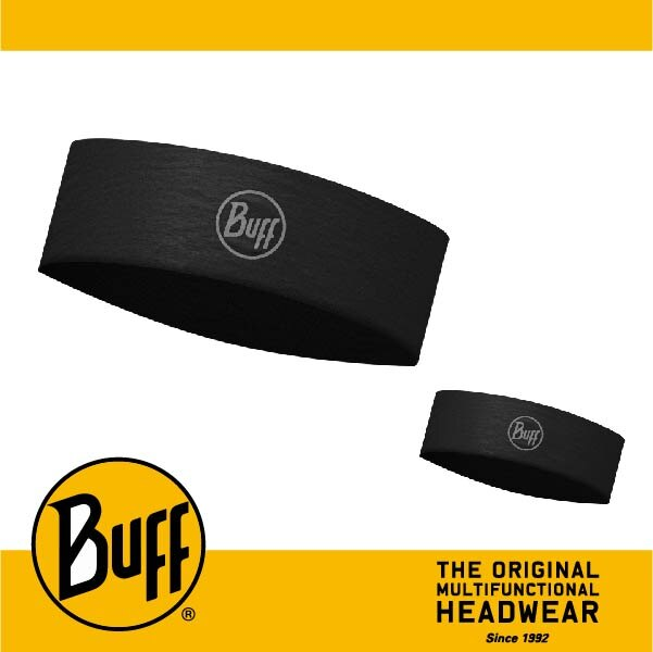 BUFF 西班牙魔術頭巾 Slim頭帶 帽子&頭帶 COOLMAX涼感抗UV系列 [沉穩黑] BF113653-999-10-00