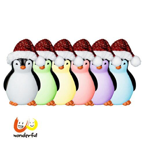 【免運】Spiegelburg 多彩聖誕企鵝