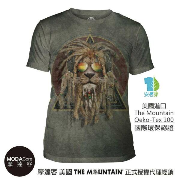 【摩達客】(預購)美國TheMountain都會系列復刻加滿獅中性修身短袖T恤