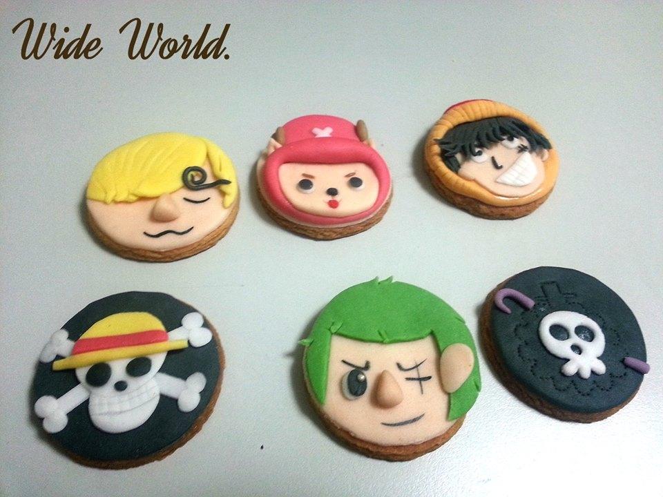 海賊王造型手工餅乾 1盒6入【Wide World 手工餅乾】