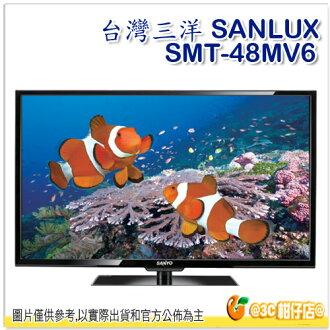 台灣三洋 SANLUX SMT-48MV6 背光液晶顯示器 LED 電視 48吋 螢幕 HDMI 高畫質 USB 保固三年 三洋
