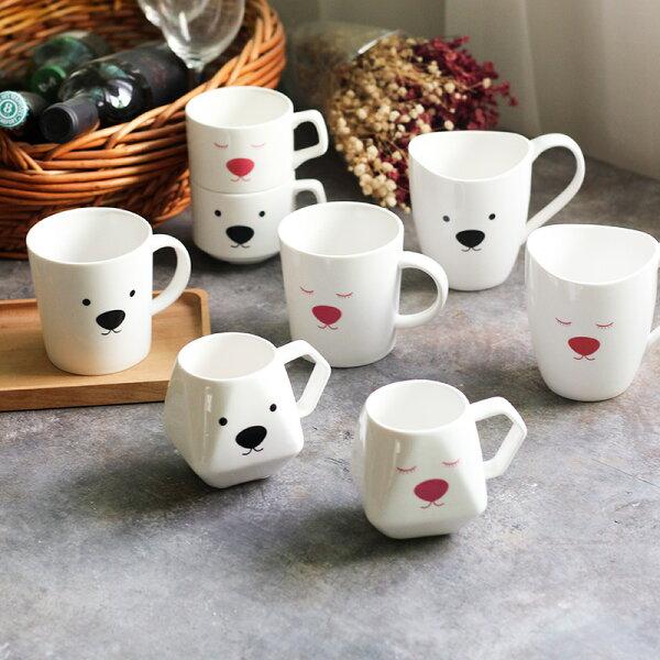 麻吉小舖:鄉村Zakka廚房可愛白熊情侶對杯咖啡杯馬克杯大肚杯