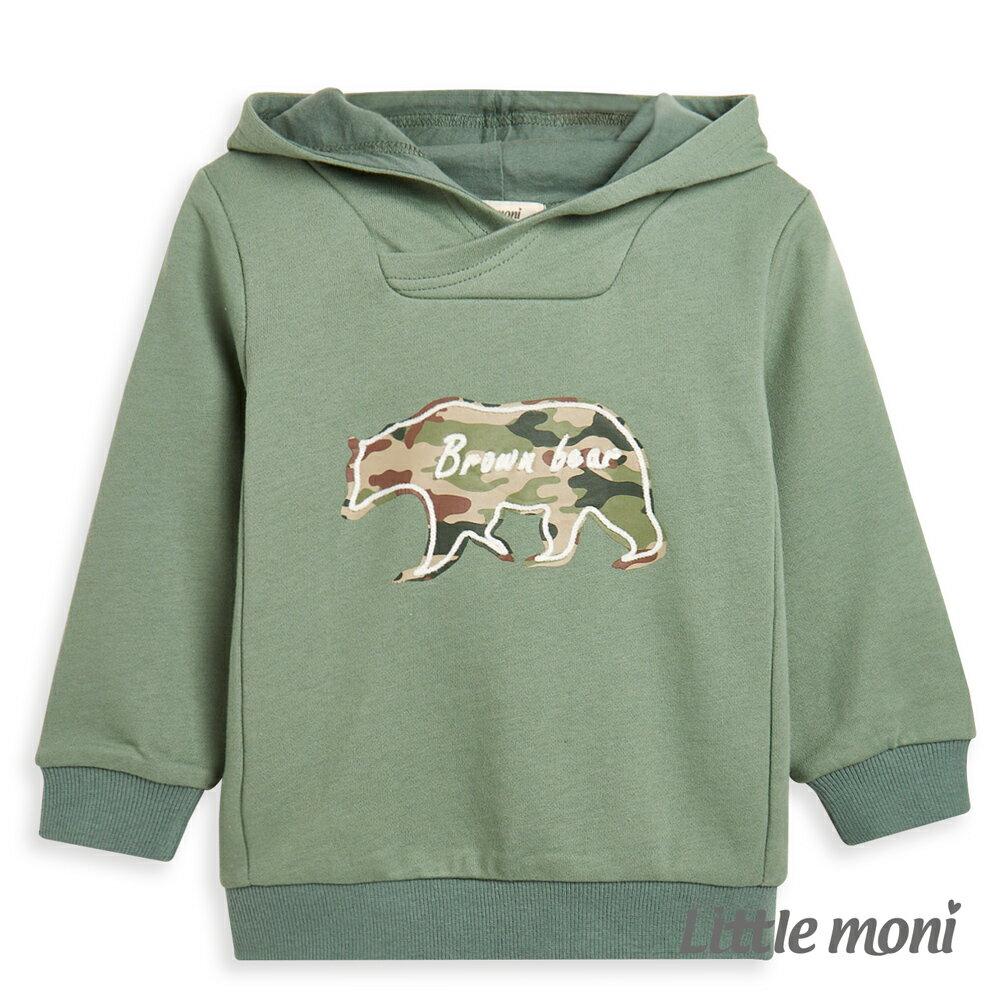 Little moni 迷彩熊連帽上衣-深綠(好窩生活節) 0