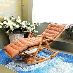 竹搖椅躺椅逍遙椅中老年椅子成人陽台家用摺疊夏天休閒午睡乘涼椅 DF 科技藝術館