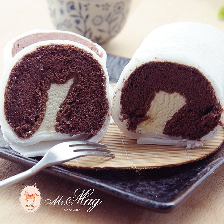 6入冰心提拉麻吉蛋糕捲~新配方榮耀登場 (一盒6入)QQ麻吉皮,手作多層次蛋糕,特調義式提拉米蘇餡,綿密巧克力蛋糕,冷凍口感有如冰淇淋【馬各先生】