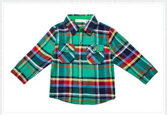 ☆Babybol☆休閒格紋純棉套裝 外套 上衣 褲子 三件組套裝【24250】 2