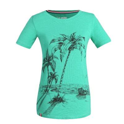 La proie 女式休閒文化衫-天池綠