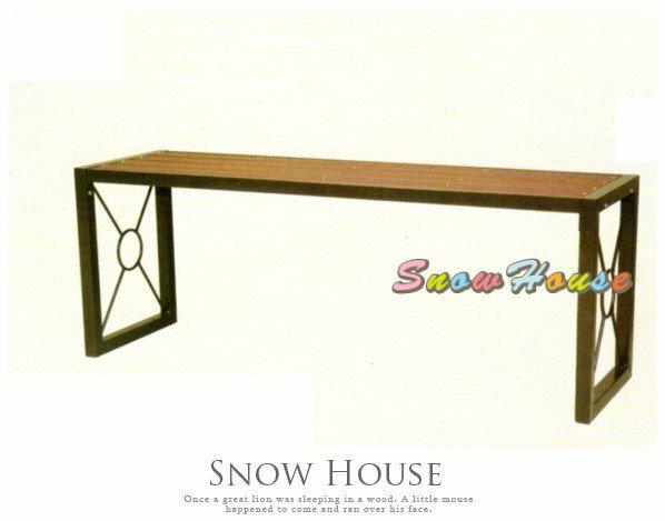 ╭☆雪之屋居家生活館☆╯S13111 P44鐵製塑木長板凳/公園椅/休閒椅/戶外椅/涼椅