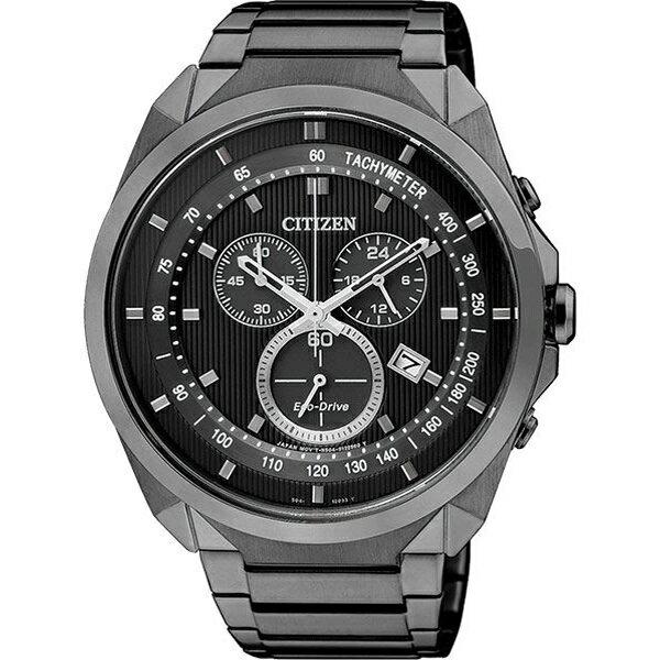 比漾廣場 BEYONDPLAZA CITIZEN 星辰 Eco-Drive METAL 專屬型男計時腕錶-IP黑/ 44mm AT2155-58E 比漾廣場