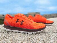 父親節禮物推薦《5折出清》Shoestw【1288254-889】UNDER ARMOUR 慢跑鞋 Speedform Slingride 橘紅