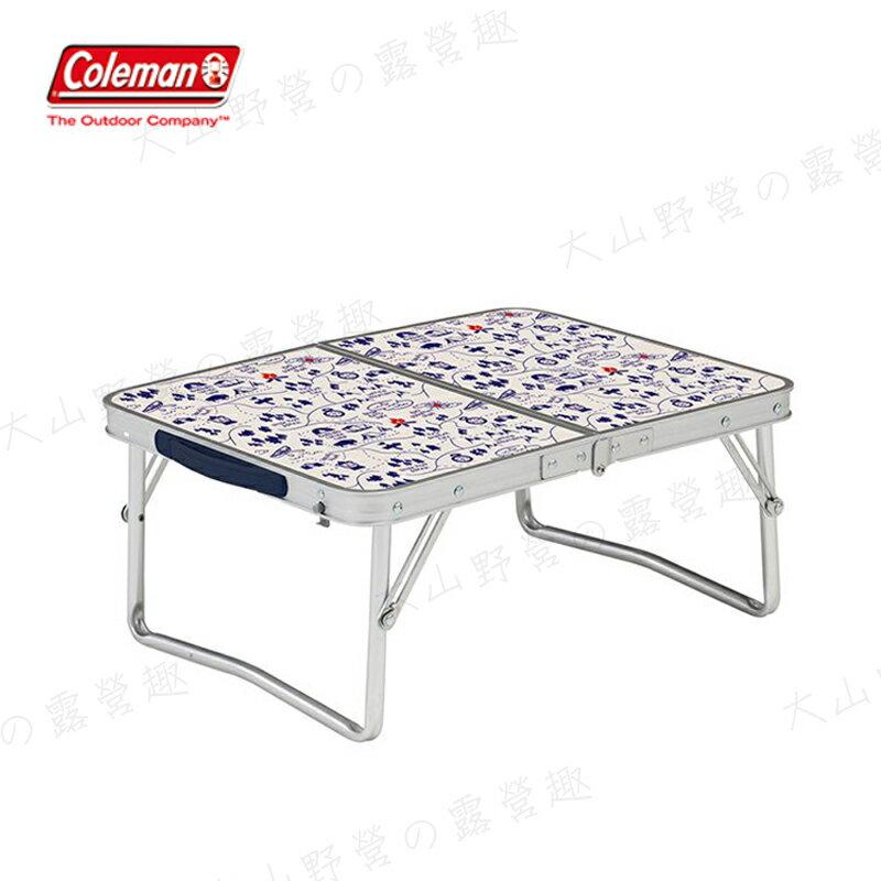 【露營趣】Coleman CM-34616 露營地圖迷你桌 鋁合金桌 露營桌 摺疊桌 野餐桌 折疊桌 露營