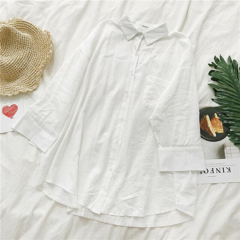 [現貨] 韓版chic氣質百搭男朋友風純色白襯衫空調衫防曬衫 可當小外套【YY866FTU】 Lanny Dress 3