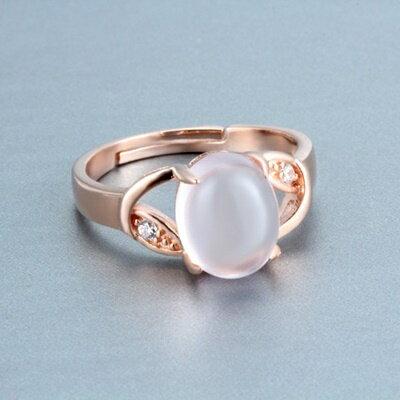 玫瑰金純銀戒指鑲鑽銀飾-典雅迷人氣質首選母親節生日情人節禮物女飾品73dx94【獨家進口】【米蘭精品】