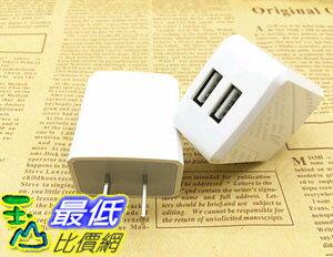 [106玉山最低網] 手機充電器頭 2.4A高速 快充 安卓手機 通用 USB直充 雙USB口( H27)