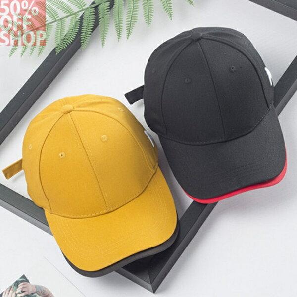 50%OFFSHOP帽子女韓版字母刺繡雙帽檐棒球帽時尚百搭鴨舌帽出遊遮陽帽(2色)【E035547H】