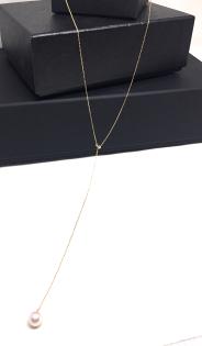 SUBROSE:【日本Akoya海水真珠】日本Akoya真珠18K金Y字項鍊60公分_あこや本真珠