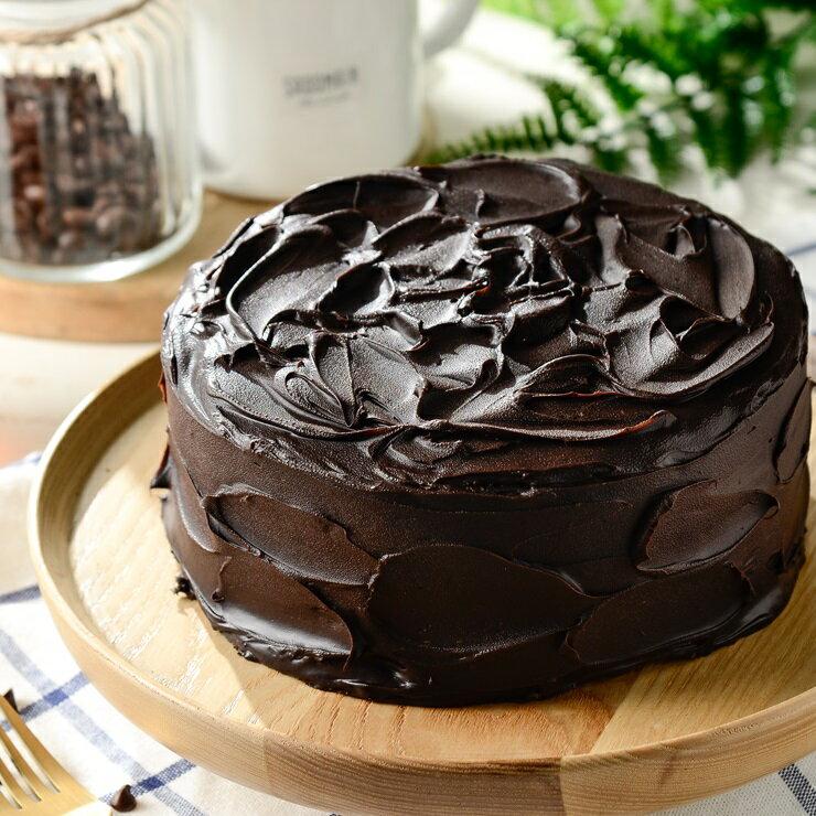 ❤️暗黑73%深黑經典款❤️~~熱銷商品~~6吋濃醇巧克力~~[聚會甜點~彌月蛋糕~團購美食~伴手禮]▶全館滿499免運