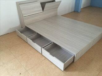 【石川家居】SD-68 裝潢設計愛用色現代3.5尺6分板抽屜收納床底(不含床頭)三個抽屜 100%台灣製造 不含其他商品
