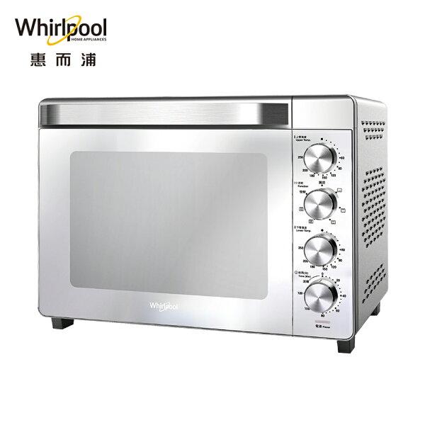 Whirlpool惠而浦32公升不鏽鋼機械式烤箱WTOM321S