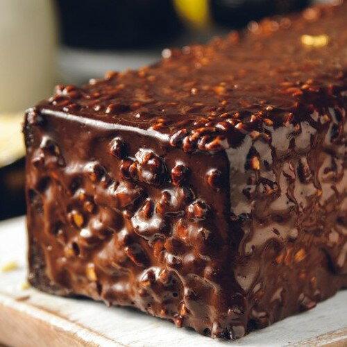 70%比利時黑巧克黑金磚【免運】70%濃郁巧克力外皮、蛋糕體、內餡,與杏仁碎果的美味交融 2