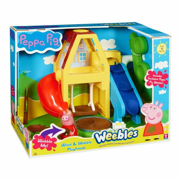 《 Peppa Pig 》粉紅豬小妹不倒翁 - 小屋溜滑梯