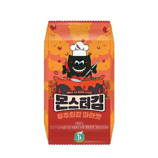 韓國火辣海苔成京怪獸海苔(麻辣)6gX6P