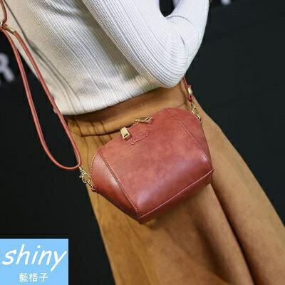 shiny藍格子:全店滿600折50【P155】shiny藍格子-時尚復古-百搭個性迷你肩單斜挎小包