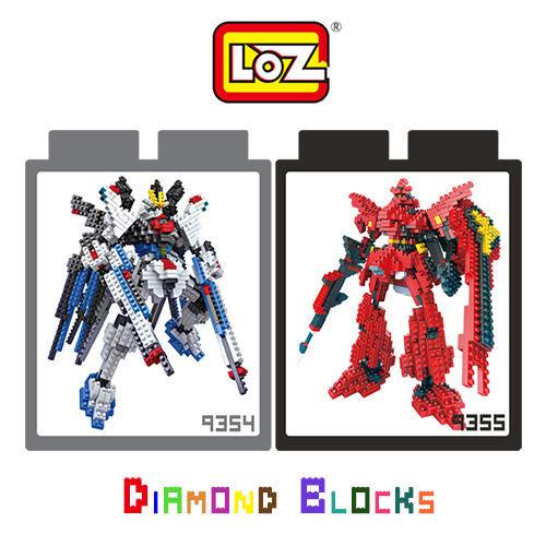 LOZ 迷你鑽石小積木 鋼彈 機械戰士 攻擊自由 / 沙薩比 樂高式 組合式 益智玩具 原廠正版 鋼彈系列