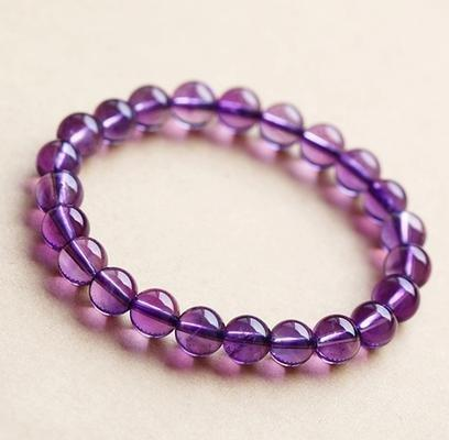 紫水晶手鏈8MM 優雅紫羅蘭色 女士手鏈
